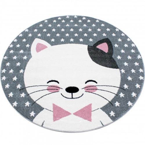 Detský koberec Kids 550 ružový kruh
