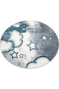 Detský koberec Kids 580 modrý kruh