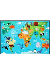 Detský koberec Torino Kids world map