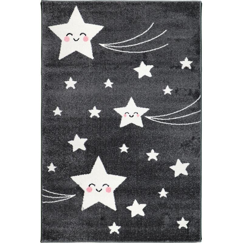 Detský koberec Playtime 0610A tmavošedý