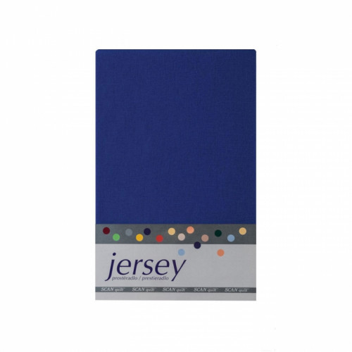 Prestieradlo 180x200 Jersey 56 tmavo-modrá Scan