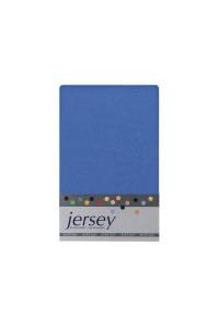Prestieradlo 180x200 Jersey 58 stredne-modrá