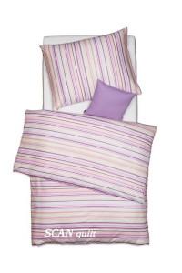 Posteľná bielizeň 140x200+70x90 fialové prúžky 0529/5 Scan