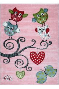 Detský koberec Playtime 0420A ružový