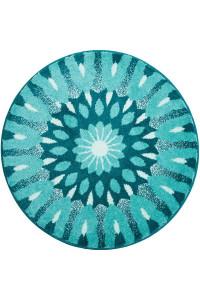 Mandala Chrám duše kruh 80cm 1311 tyrkysová