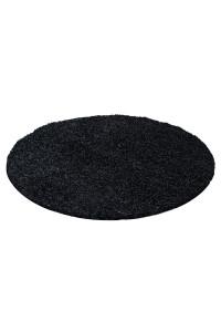 Koberec Life Shaggy čierny 1500 kruh