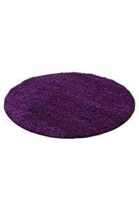 Koberec Life Shaggy fialový 1500 kruh