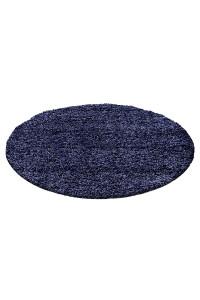 Koberec Life Shaggy tmavo-modrý 1500 kruh