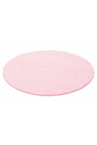 Koberec Life Shaggy ružový 1500 kruh