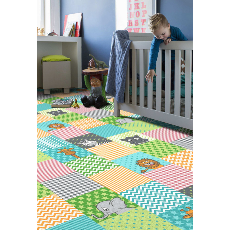 Detský koberec Animals 845 modrá