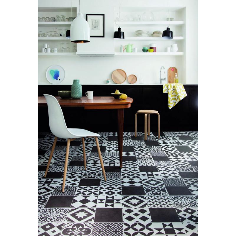 Vinyl Pentax Marokko black - čierno-biely vzor