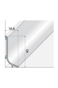 Samolepiaca soklová hliníková lišta Q63 01 strieborná