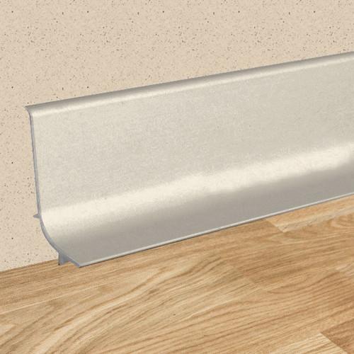 Samolepiaca soklová hliníková lišta Q63 270cm 07 Inox