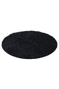 Koberec Life Shaggy čierny kruh - na objednávku