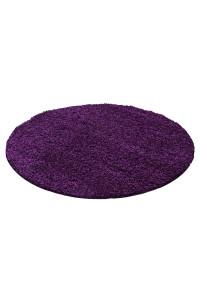 Koberec Life Shaggy fialový kruh - na objednávku
