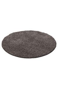 Koberec Life Shaggy hnedo-šedý kruh - na objednávku