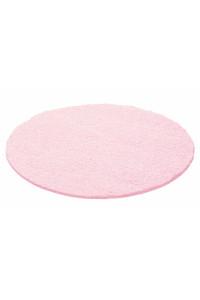 Koberec Life Shaggy ružový kruh - na objednávku