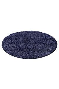 Koberec Life Shaggy tmavo-modrý kruh - na objednávku