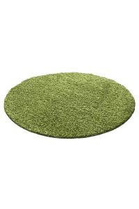 Koberec Life Shaggy zelený kruh - na objednávku
