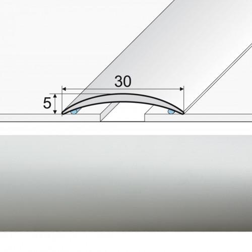Prechodová lepená lišta A03 striebro 01