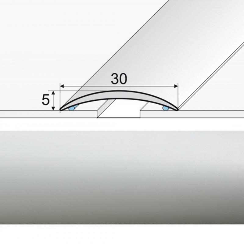 Prechodová lepená lišta striebro
