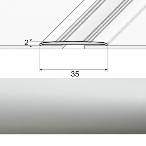 Prechodová lepená lišta A08 striebro