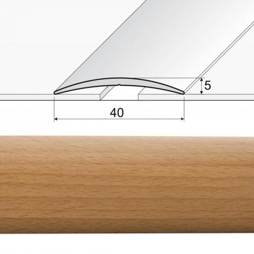 Prechodová lepená lišta A13 buk