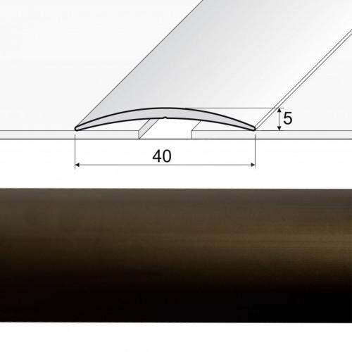 Prechodová lepená lišta A13 bronz 03