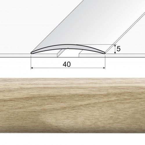 Prechodová lepená lišta A13 dub mocca 20902