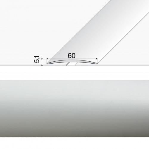 Prechodová lišta lepená A70 striebro