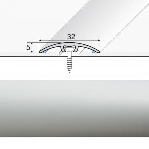 Prechodová lišta narážaná A66 striebro