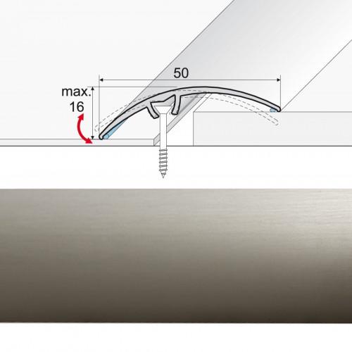Prechodová lišta narážaná A65 inox