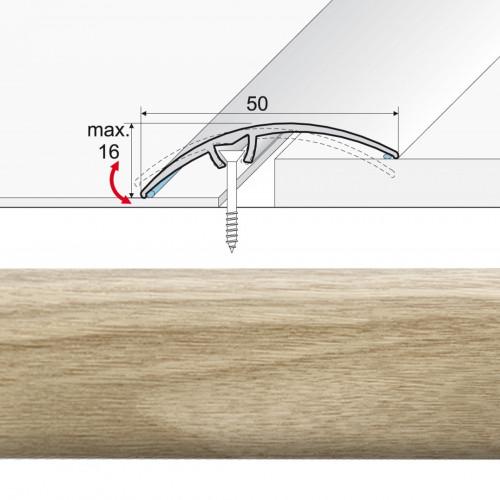 Prechodová lišta narážaná A65 dub mocca 20902