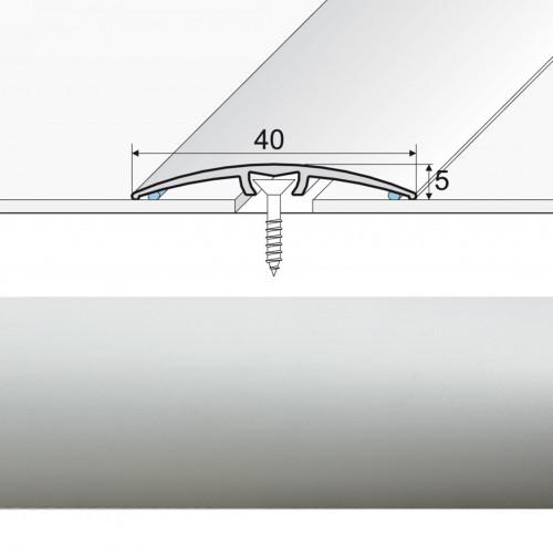 Prechodová lišta narážaná A64 striebro