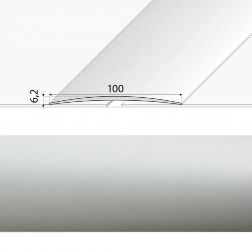 Prechodová lišta lepená A72 striebro
