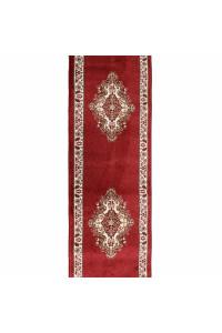 Medailon behúň 6985A červeno-krémový