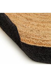 Kusový koberec Jutta kruh 6546 hnedočierny