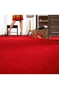 Metrážny koberec Neon 440 červená