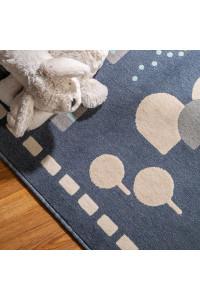 Kusový koberec Juno 6313 modrý