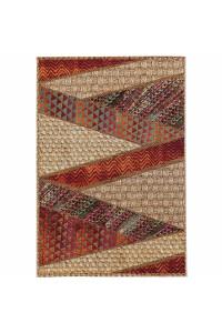 Kusový koberec Kenya 7034 béžovo-červený