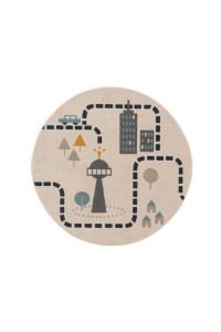 Kusový koberec Juno kruh 6314 béžový