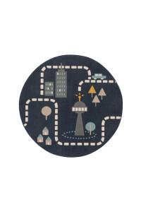 Kusový koberec Juno kruh 6314 modrý
