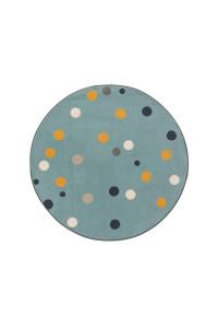 Kusový koberec Juno kruh 6819 viacfarebný-modrý