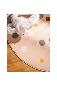 Kusový koberec Juno kruh 6819 viacfarebný-ružový