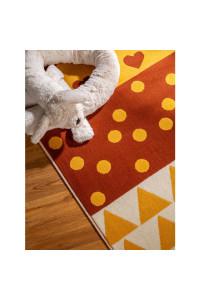 Kusový koberec Juno 6817 viacfarebný-ružový
