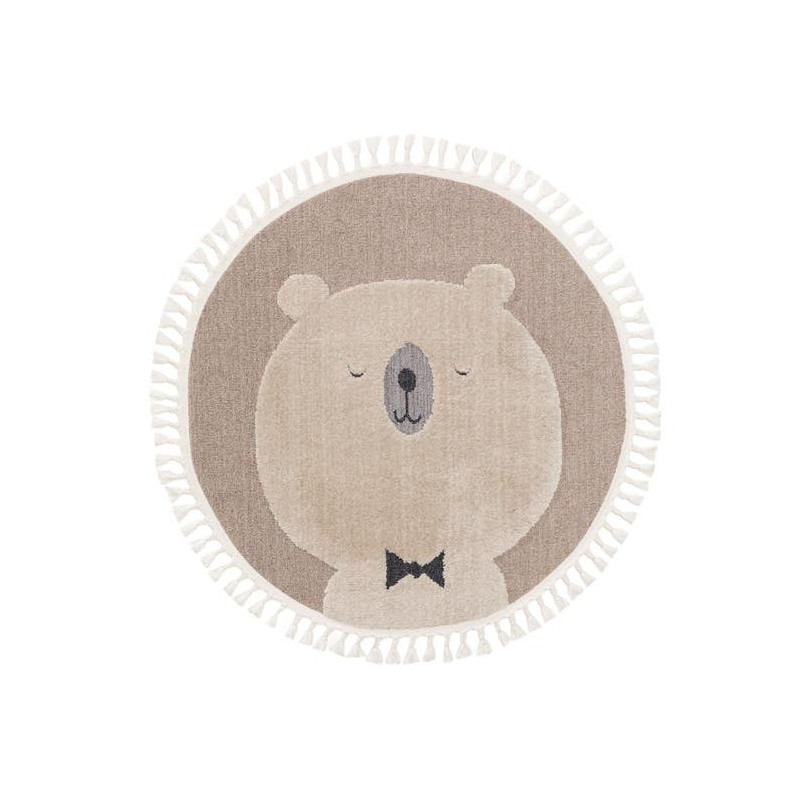 Kusový koberec Momo kruh 6538 béžová