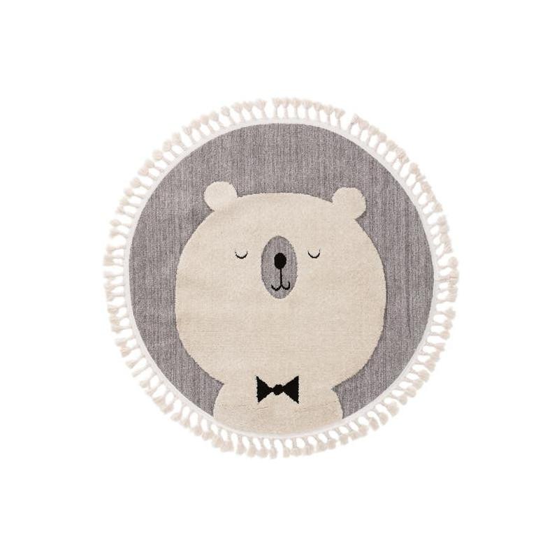 Kusový koberec Momo kruh 6538 sivý