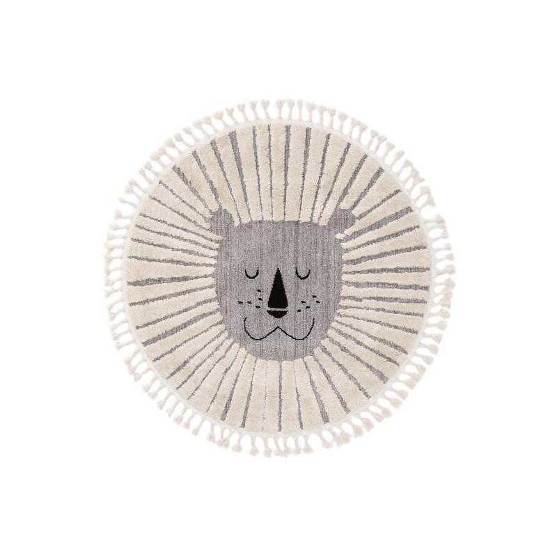 Kusový koberec Momo kruh 6544 sivý