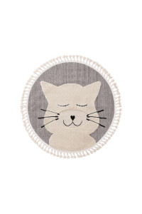 Kusový koberec Momo kruh 6542 sivý