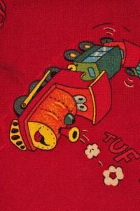 Metrážny detský koberec Travel 10 červený